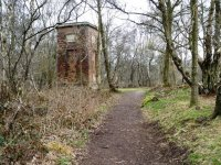 Old mine building in woods